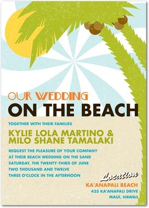 sand and surf wedding invitations