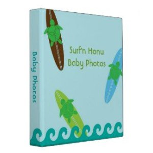 baby photos surf theme binder