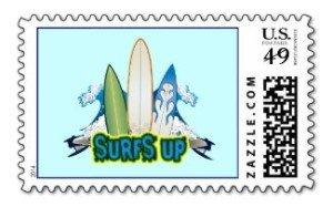 surfs up postage stamp