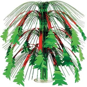 Christmas tree cascading center piece