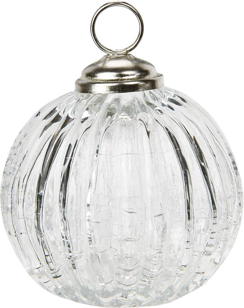 Clear Place Card Holders ribbed Glass Bauble