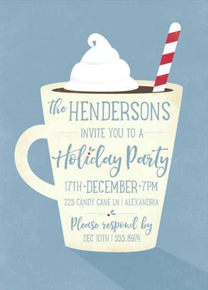 Hot Cocoa Holiday Party Invitation