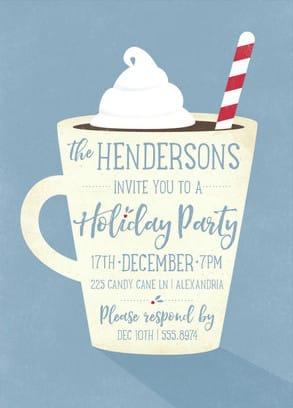 Hot Cocoa Holiday Party Invitation