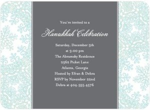 INTRICATE  SNOWFLAKE Invitation