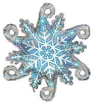 Linky Snowflake Mylar Balloon