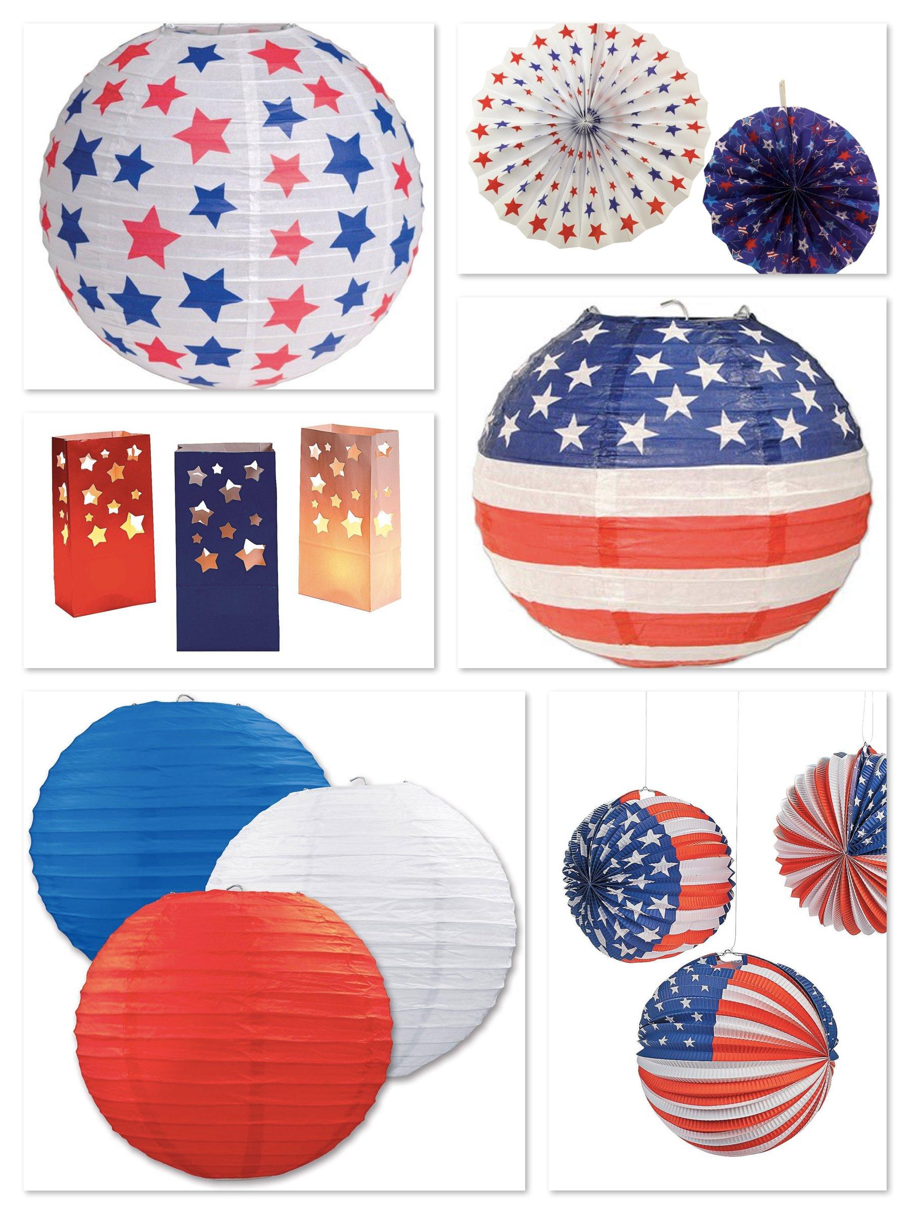 Patriotic Paper Lanterns