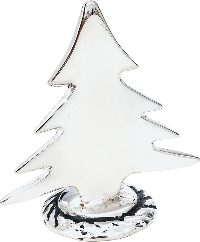 Silver Simple Christmas Tree Place Card Holders