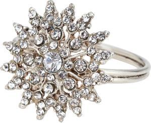 Silver Sunburst Jewel Napkin Rings