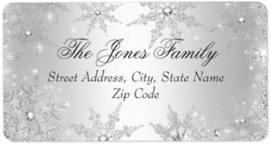 Silver winter wonderland address labels