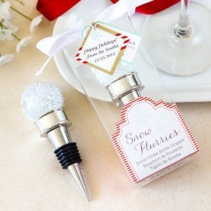Snow Flurries Snowglobe Bottle Stopper