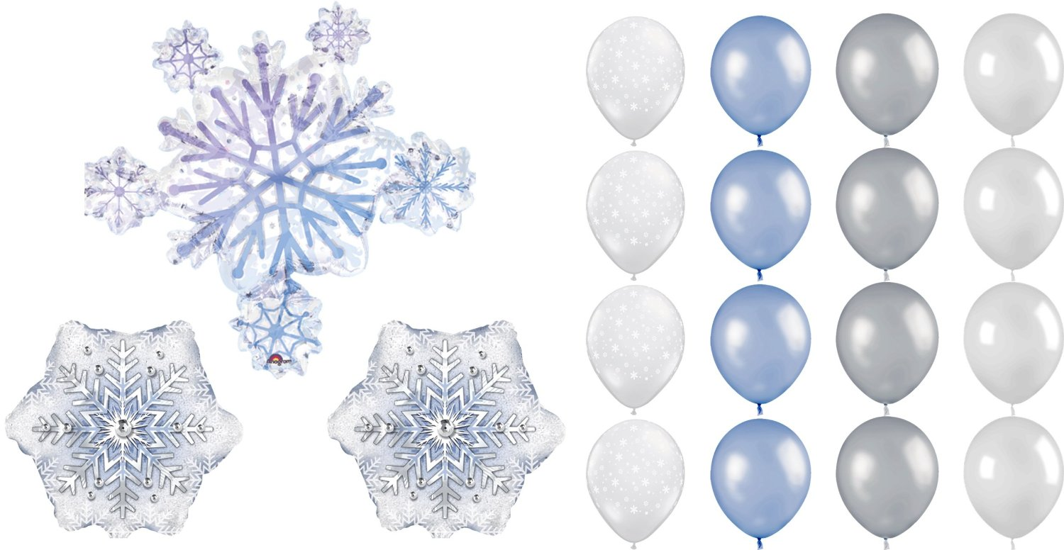 Snowflake Balloons Party Decorating Kit