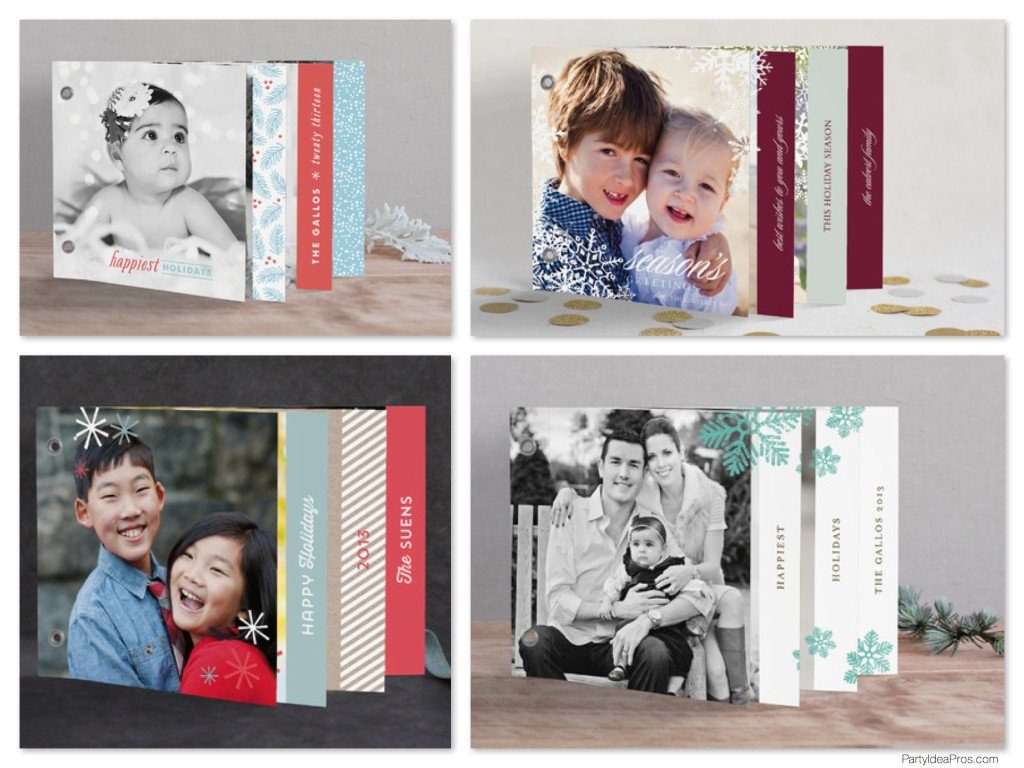 Snowflake holiday minibook™ cards
