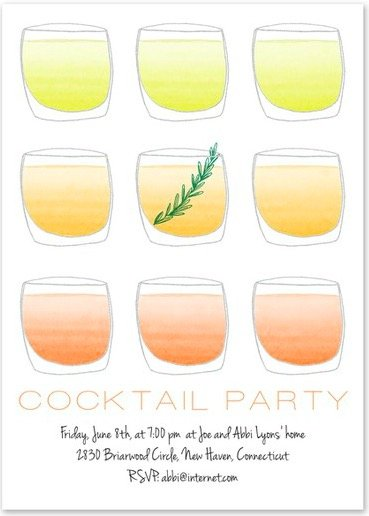 Summer Cocktails Invitation