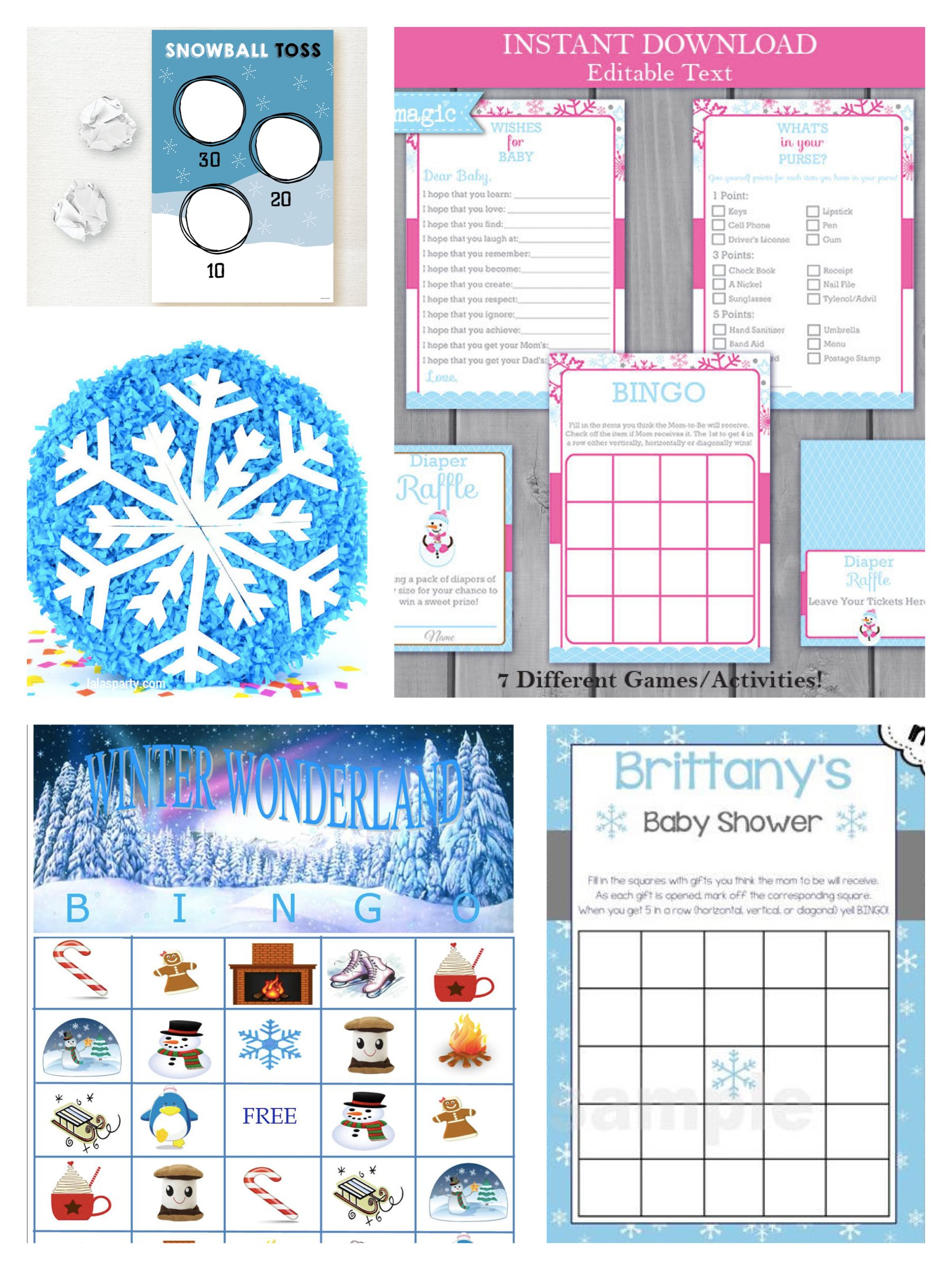 Winter Wonderland Party Games & Activities