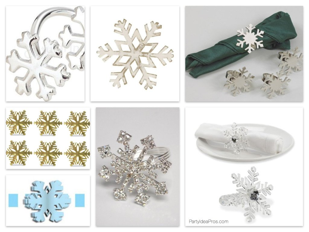 Winter Wonderland Snowflake Napkin Rings