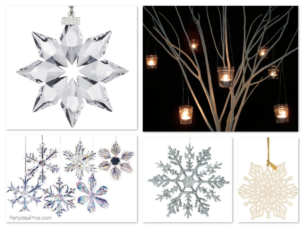 Winter Wonderland Snowflake Ornament Centerpiece