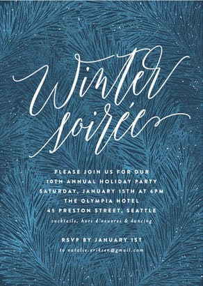 Winter soiree holiday card