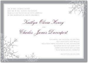 chic snowflakes invitations