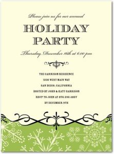 snowflake fancy party invitations