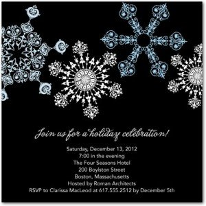 snowflake parade party invitations