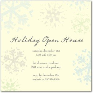 sparkling snowflakes party invitations