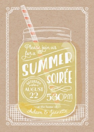 summer sippin' summer party online invitations
