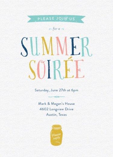 summer soiree summer party online invitations