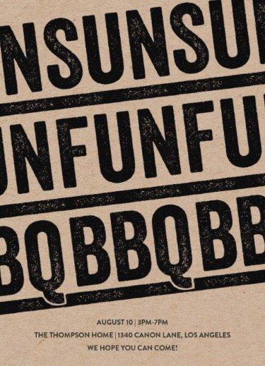 sun fun bbq summer party online invitations