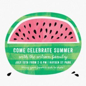 watermelon fun summer party online invitations