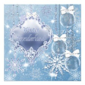 winter wonderland invitations