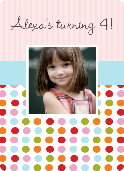 COLORFUL POLKA DOT BIRTHDAY PARTY INVITATION
