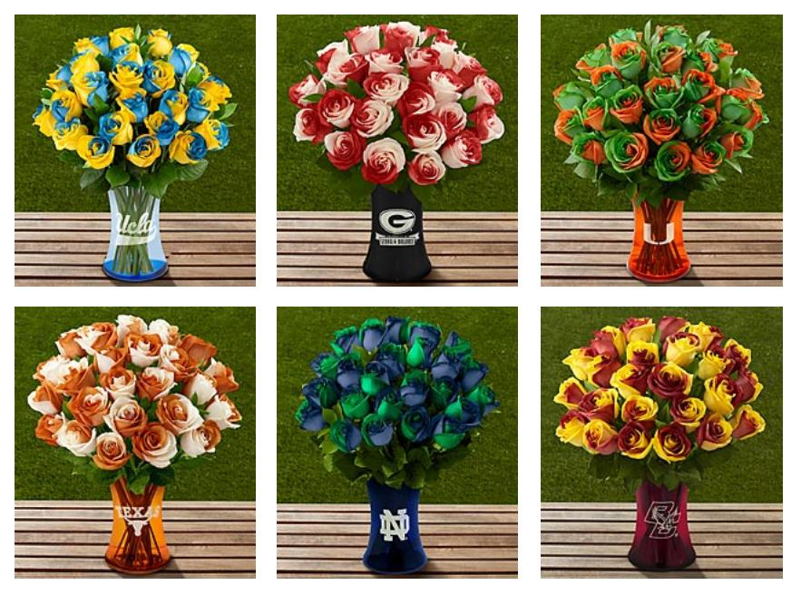 School colors. School spirit. School roses.