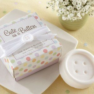 Cute as a Button Polka Dots Button Soap Favor