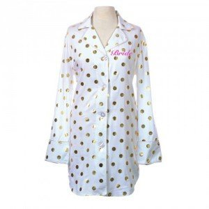 Gold Polka Dot Personalized Nightshirt