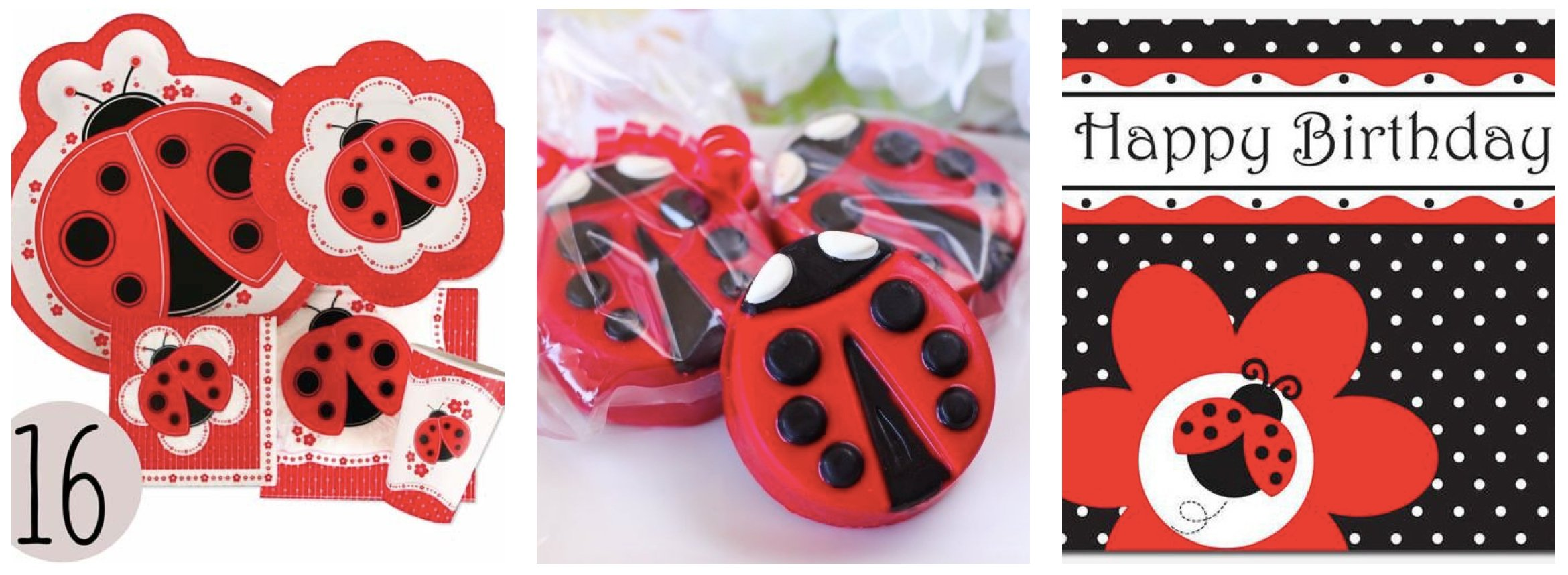 Lady Bug Polka Dot Party Supplies