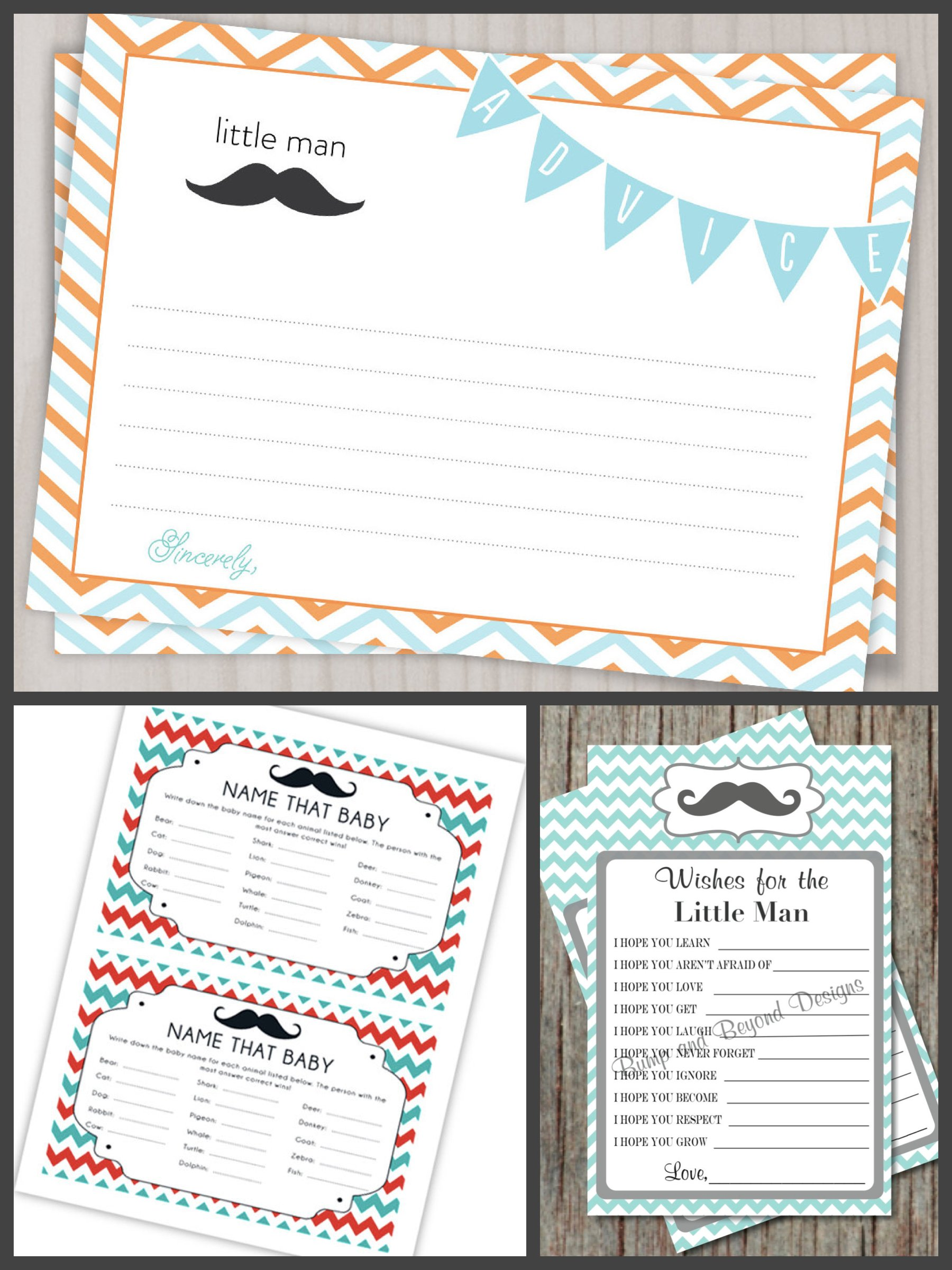 Mustache Bash Baby Shower Printable Games, Printable Mustache Bash Game