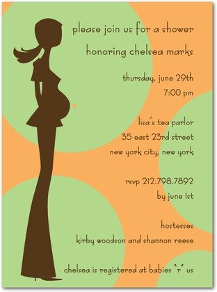 Polka Dot Momma Baby Shower Invitations