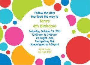 Polka Dot Party Personalized Invitation