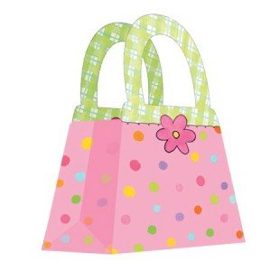 Polka Dot Purse Favor Boxes