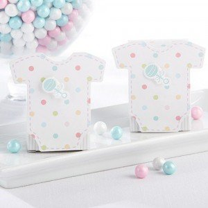 Polka Dots Onesie Favor Box