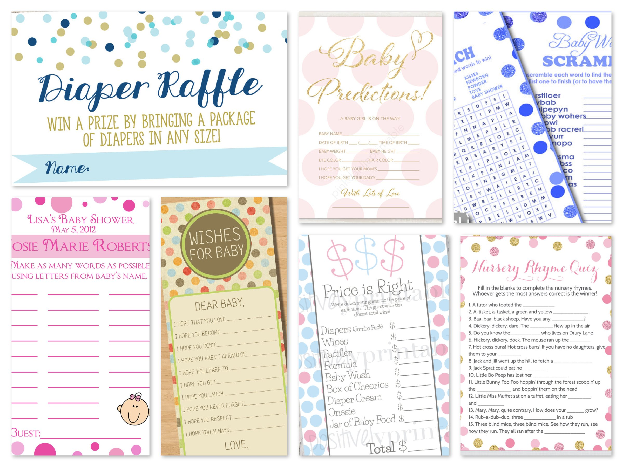 Polka Dots Printable Games