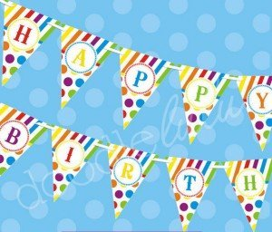 Printable Polka Dot Party Supplies