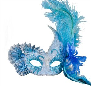 Light Blue Venetian Mask
