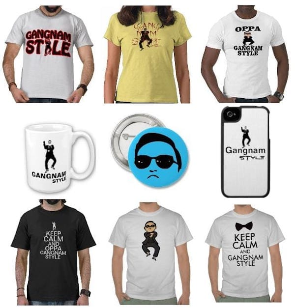 Zazzle Gangnam Accessories stickers phone case shirt