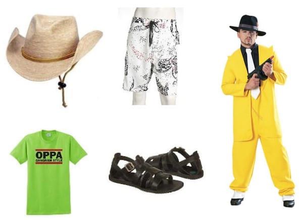 Gangnam style elevator man costumes