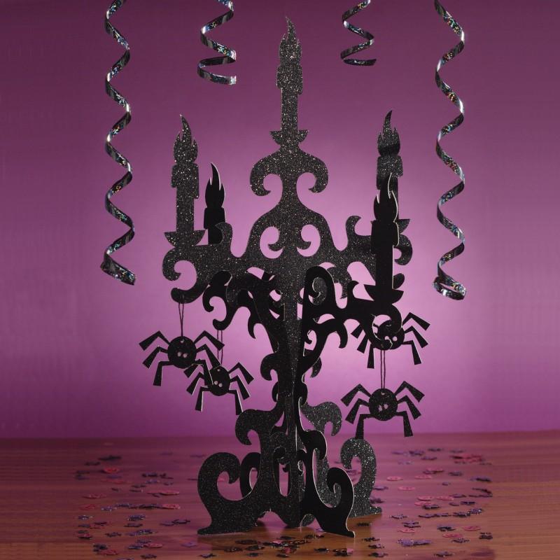 3-D Halloween Glitter Candelabra