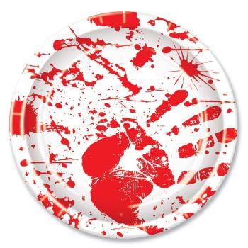 Bloody Hand Print Plates
