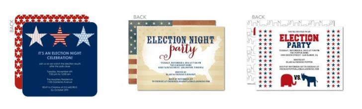 Election Night Party Invitations, Political Events, Patriotic Party, Election Cards