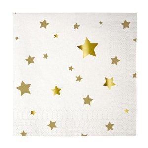 Gold Star Pattern Napkins
