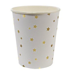 Gold Star Pattern Party Cups